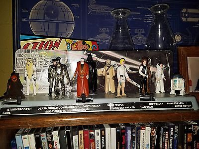 STAR WARS ACTION FIGURE DISPLAY STAND FOR VINTAGE FIGURES CLEAR X 70 T1c