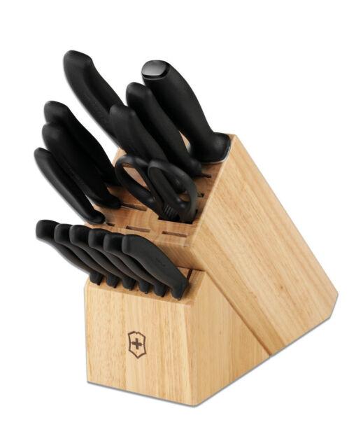 Victorinox Kitchen Knife Block Set 15Pc Stainless Steel Cutlery Set  6.7000.15US1