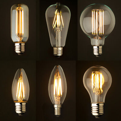 Met Goed Opvoeding Industrial Dimmable Led Filament Light Bulbs Glass Candle Globe E14 E27 B15 B22
