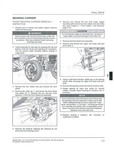 S1000 WorkShop Service Repair Manual CD BEST 2017-2018 NEW POLARIS RZR 900
