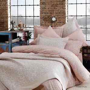 5tlg bettw sche bettgarnitur baumwolle renforce eleonor rosa 200x200 200x220cm ebay. Black Bedroom Furniture Sets. Home Design Ideas