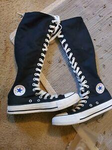 Converse-ALL-STAR-Knee-High-Shoe-Black-Unisex-Size-6-Women-4-Men