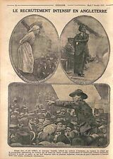 Nurses Red Cross Recruiter Sergeant  Tommies Soldiers British Army UK WWI 1915