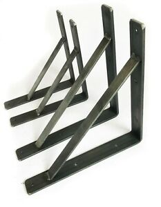Heavy Duty Scaffold Board Shelf Brackets Rustic Handmade Industrial Modern