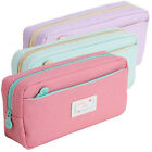 Zipper Pencil Pen Case Large Stationery Makeup Cosmetic Brush Bag Storage Pouch