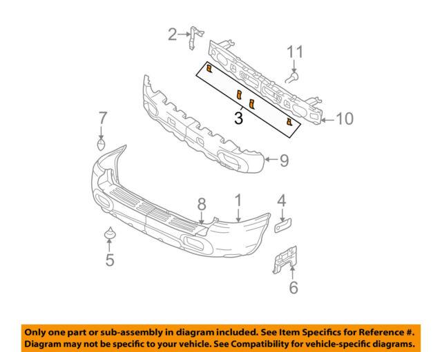NEW Rear Bumper Cover Lower Inner Support Bracket OEM For 2001-04 Santa Fe