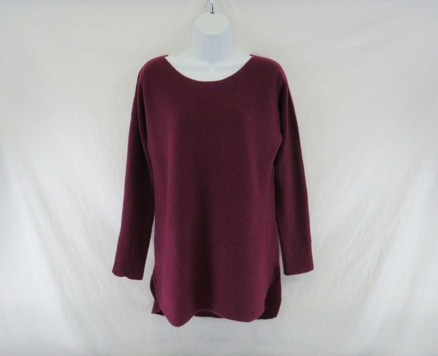 Women's Halogen 100% Cashmere Plum Long Sleeve Sweater Size S  KK686