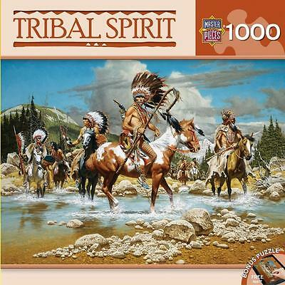 MASTERPIECES TRIBAL SPIRIT JIGSAW PUZZLE THE CHIEFS 1000 PCS #71612