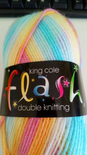 King Cole Flash DK 147 Oasis super soft yarn for knit crochet hobby craft gift