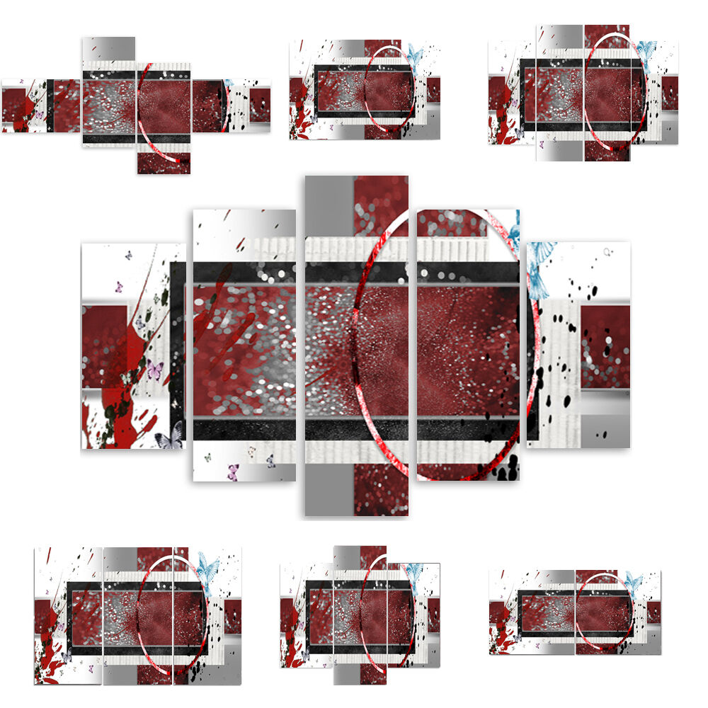Top Toile Image Images (54 variantes) Modern HD Type Rouge Blanc abstraction 2088