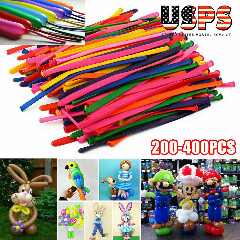 200 Pcs Twist Magic Modeling Balloons Colorful Party Decor Kids Fun Craft DIY