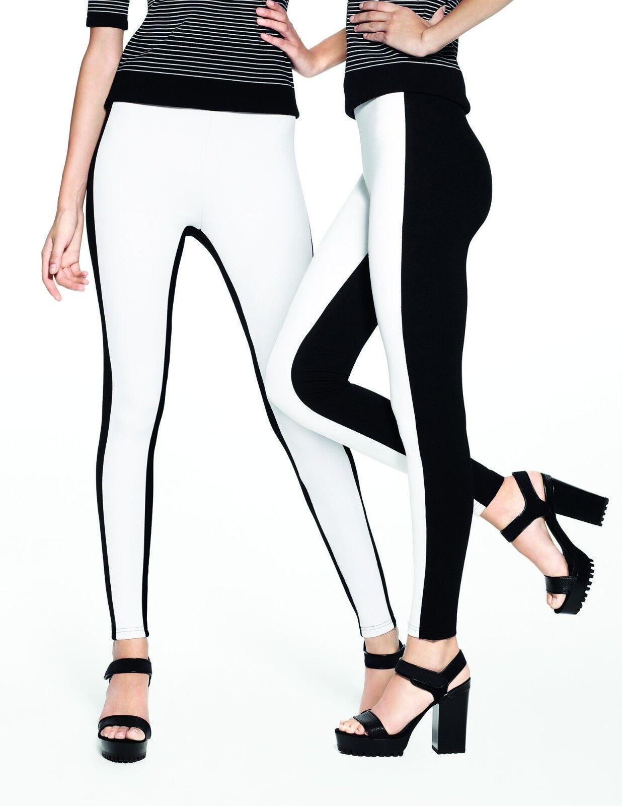 S Hue Leggings Colorblock Illusion Stretch Ponte Leggings XS L,XL M