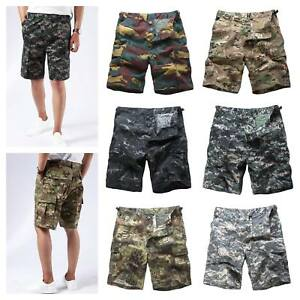 Mens-Army-Military-Combat-BDU-Shorts-Casual-Fashion-Camo-Cargo-Shorts