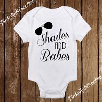 Shades & Babes Personalized Baby Boy Clothes Onesie Newborn Infant Gift Bodysuit