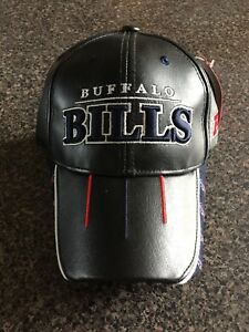 BRAND-NEW-BUFFALO-BILLS-ADJUSTABLE-LEATHER-BASEBALL-CAP-NFL