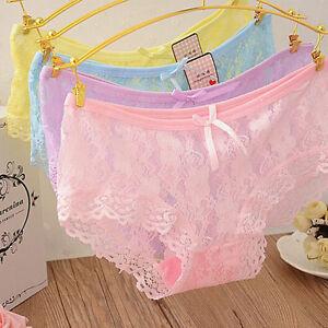 Das Bild wird geladen 6-Damen-Panties-Hole-Spitze-Panty-Hotpants-Hipster- fc5de760f7