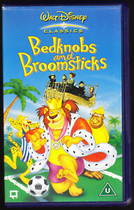 DISNEY-CLASSICS-BEDKNOBS-AND-BROOMSTICKS-134-MINUTES-VHS-PAL-UK-VIDEO
