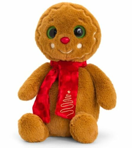 Keel Toys CHRISTMAS GINGERBREAD MAN with Scarf 20cm SOFT TOY