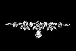 Diamante-Motif-Applique-Rhinestone-Sew-on-Wedding-Silver-Crystal-Patch-A130