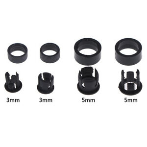 20Set 3mm//5mm Plastic LED Holders Clips-Bezels Mounts Cases With Outer rinODECU