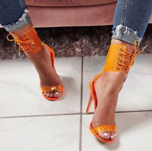 Women-039-s-Strappy-Stiletto-High-Heels-Peep-Toe-Lace-Up-Transparent-Sandals-Shoes
