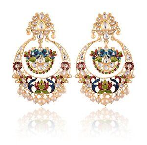 Bridal-Wedding-Jewelry-Indian-Women-Fashion-Handmade-Drop-Dangle-Earrings