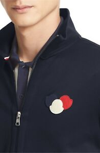 871185583 Moncler Maglia Track Jacket Navy Blue Cardigan Sz XXL Double Zip Top ...