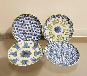 Williams Sonoma Aerin Ardsley Appetizer Plates Set of 4 NEW