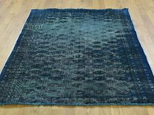 "4'3""x4'10"" Hand-Knotted Persian Bokara Overdyed Worn Oriental Rug R35063"