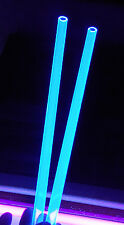 2 Pc 12 Od 38 Id Clear Blue Fluorescent Acrylic Plexiglass Tube 12 Inch Long