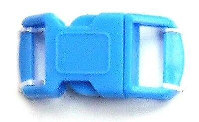 Steckverschluss Steckschnalle z.B. für Paracord 30 x 15 mm - blau - 2 Stück