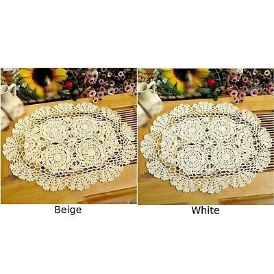 1 X Floral Doily Embroidered Placemat Tablecloth Dinning Table Mat Lace 30*45cm
