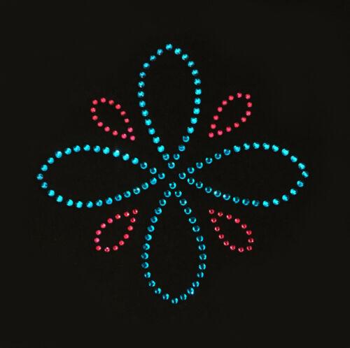 Hot fix Iron On Rhinestone Moroccan Flower Design Transfer Diamante Gems