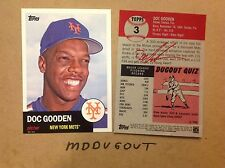 Dwight Doc Gooden #3 mets MVP Legend #ed/49 made 2016 Topps Archives 1953 5x7