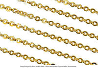 22k Gold Plated 2.7mm Round Cable Chain Jewelry Necklace Sold By The Foot