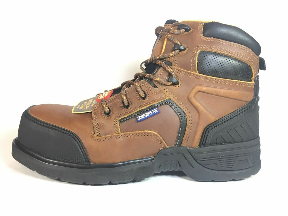 Cactus Work Boots 6080C Light Brown COMPOSITE Toe Real Leather New N Box