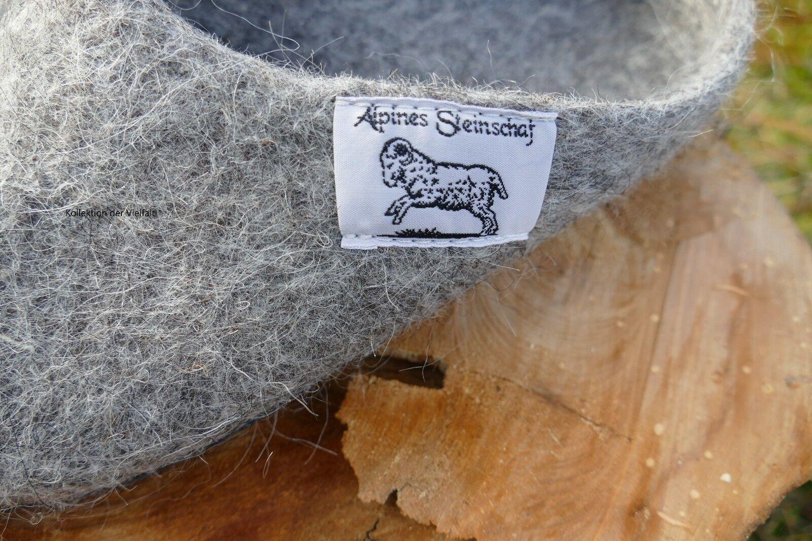 Filzpantoffeln Gr. 41 in naturgrau Schafwolle aus  heimischer Schafwolle naturgrau 1e6e57