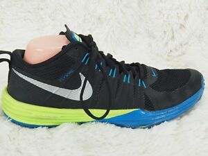 best cheap 1db37 6a696 Image is loading NIKE-LUNAR-TR1-TRAINER-1-Flywire-Black-Blue-
