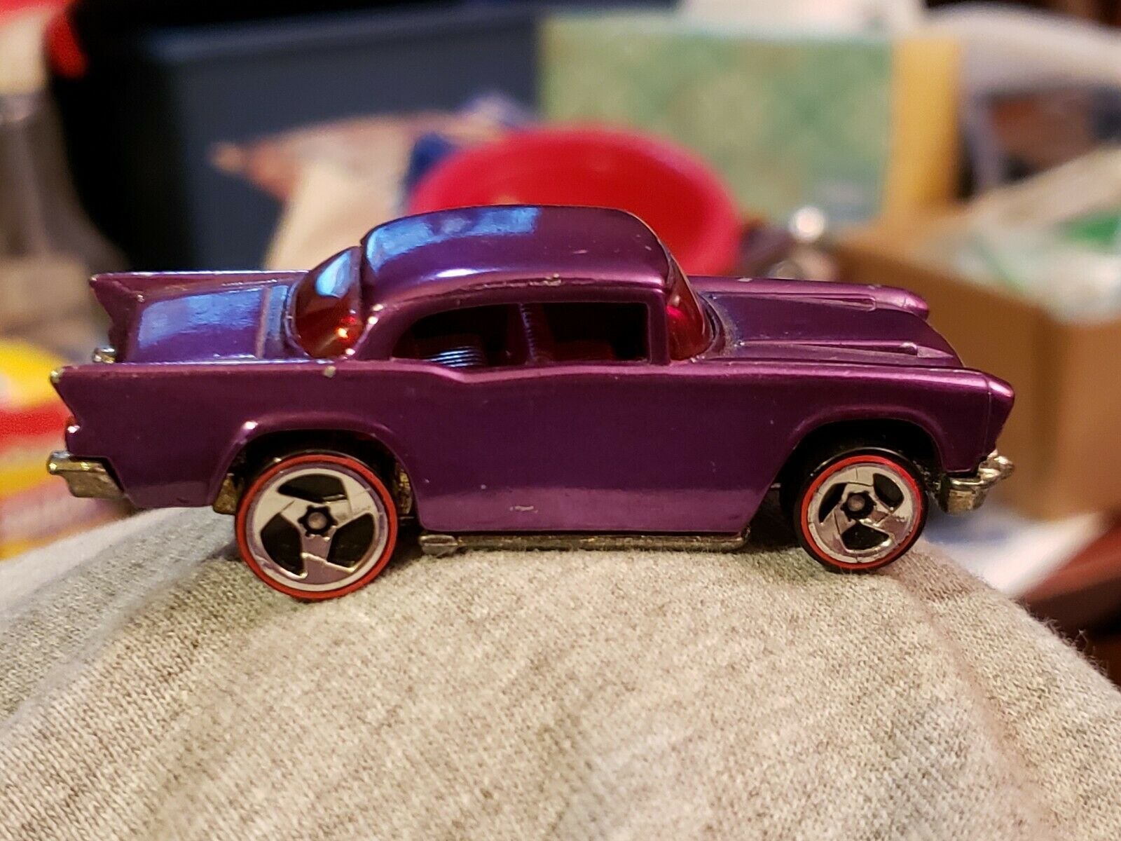 Hot Wheels discriminatoires 1976 Chevrolet 57 Violet Émail