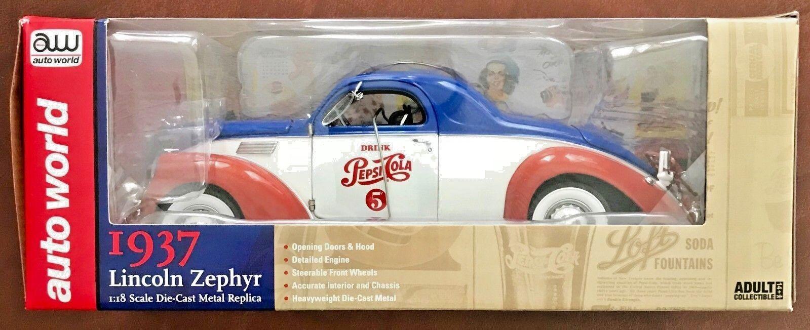Auto World Classic Die-Cast Series Pepsi-Cola Zephyr Zephyr Zephyr Cameo  AW205207 (Set of 2) 3b00fe