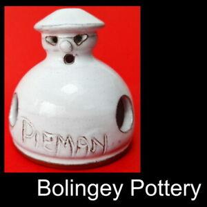 "c.1970s rare ""PIEMAN"" pie funnel Bolingey Pottery Perranporth pie bird pie vent"