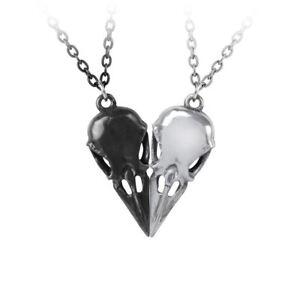 Alchemy-Gothic-Coeur-Crane-Raven-Heart-Pewter-Friendship-Pendant-Necklace