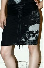 Lip Service Skeleton Xray Cybergoth Cyberpunk Laceup High Waist Skull Skirt