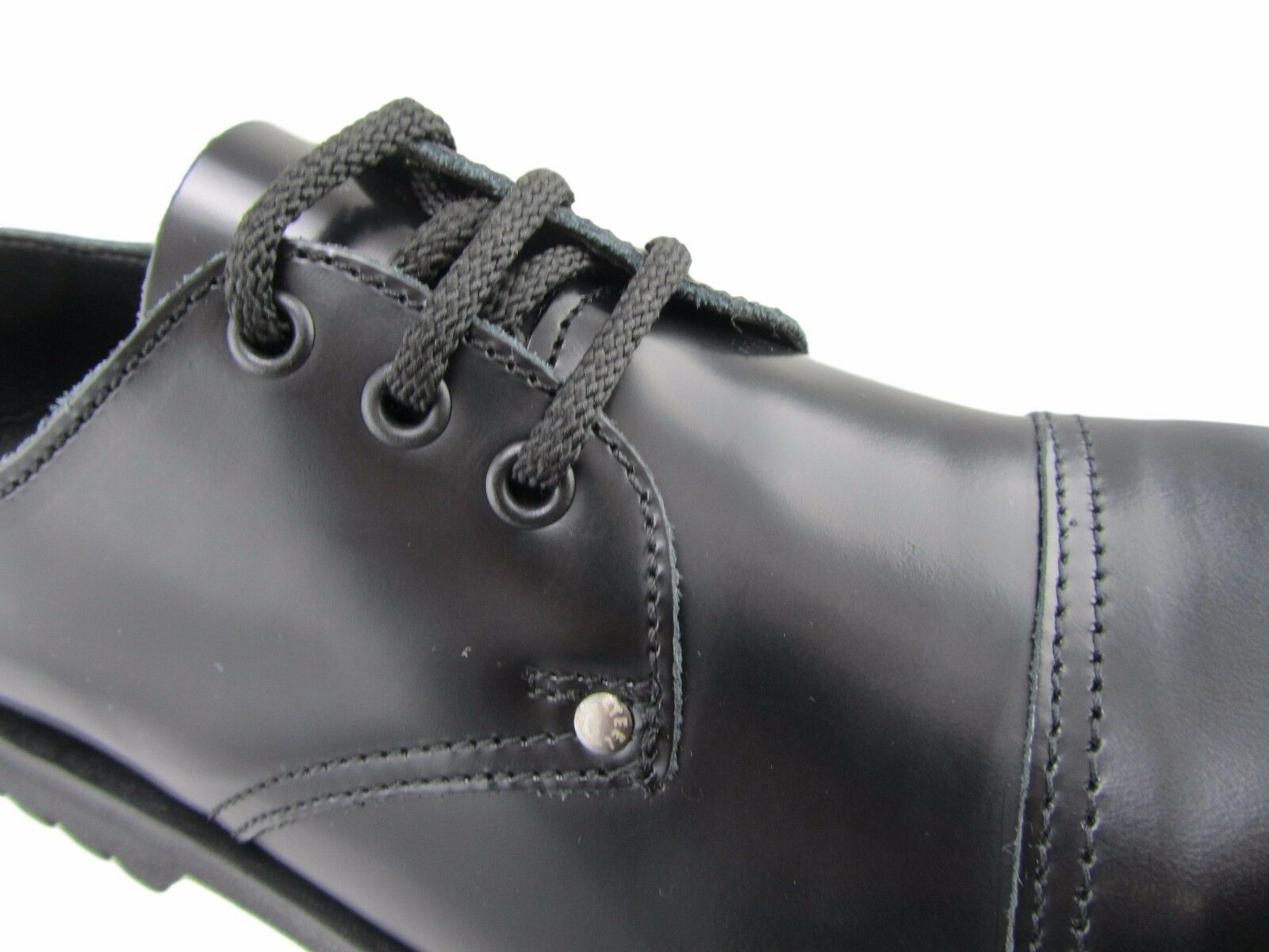 Steel Steel Steel Ground schwarz Leder 3 Eyelets Schuhes Box Under Safety Cap Schuhe 27f530