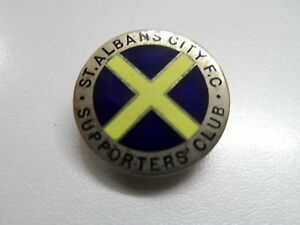 RARE OLD FOOTBALL BADGE STALBANS CITY SUPPORTERSCLUB NONLEAGUE GILT  BROOCHPIIN - Scarborough, North Yorkshire, United Kingdom - RARE OLD FOOTBALL BADGE STALBANS CITY SUPPORTERSCLUB NONLEAGUE GILT  BROOCHPIIN - Scarborough, North Yorkshire, United Kingdom
