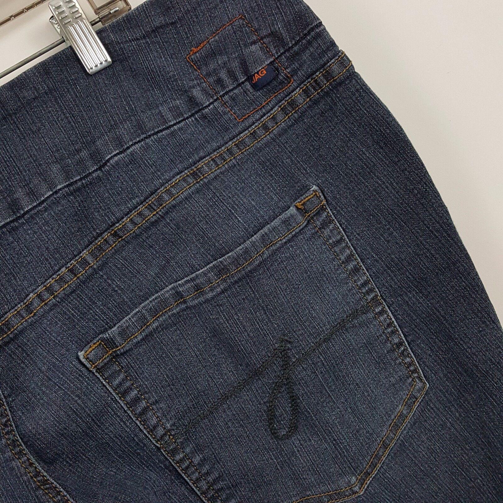 Jag Jeans Pull On High Rise Boot Cut Womens Dark Wash bluee Jeans Sz 24W - 42x29
