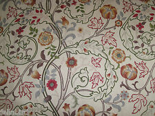 "WILLIAM MORRIS CURTAIN FABRIC ""Mary Isobel"" 5 PIECES ROSE/SLATE DM3F220626"