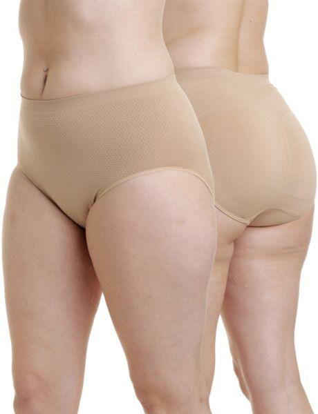 Ouno Shapewear Slip 2er Pack Taillenslip Seamless Po formend stützend Bauch weg