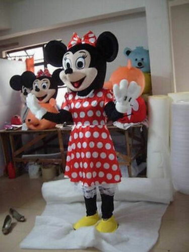 New Mickey Minnie Mouse Mascot Halloween Holiday Party Costume Adult Size