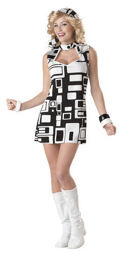 1970's Disco Groovy Chick Adult Costume